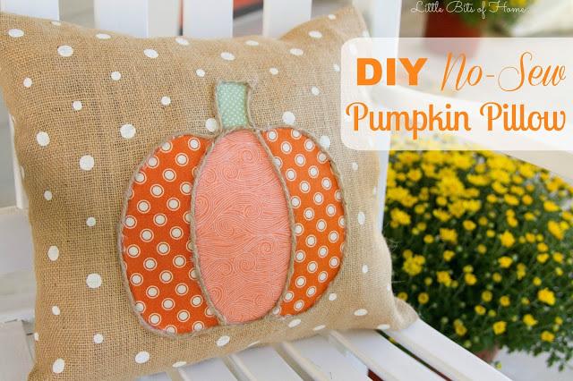 DIY No Sew Pumpkin Pillow