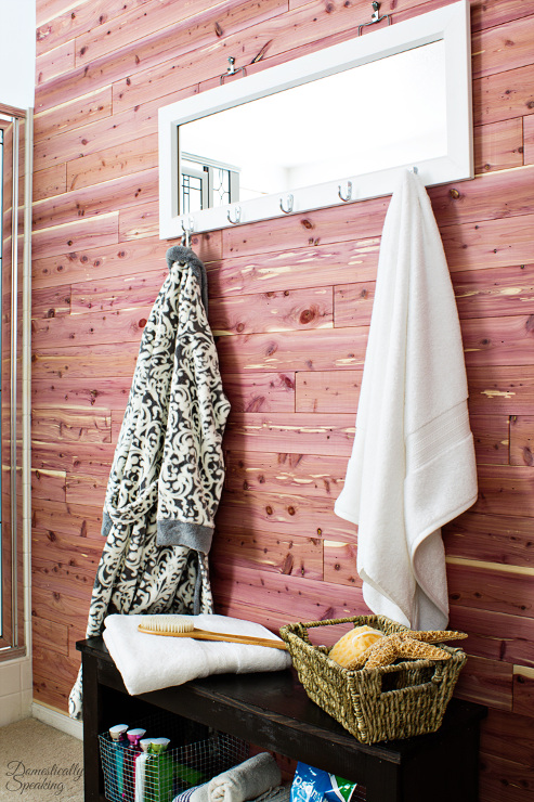 Cedar Plank Bathroom Wall