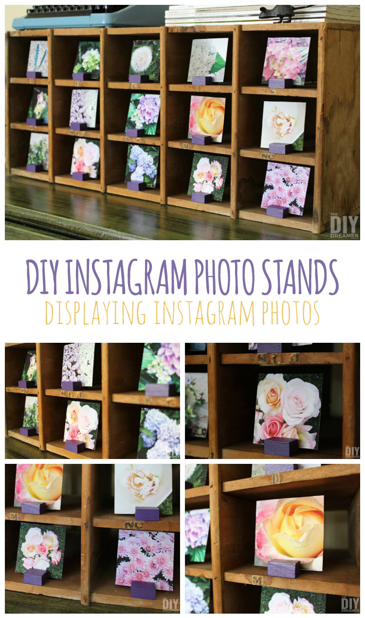 DIY Instagram Photo Stands. Do you have a bunch of beautiful Instagram photos in your phone that you would like to display in your home? Awesome! Then this Instagram Photo Stand tutorial is for you! This DIY Crafts makes a PERFECT gift too! thediydreamer.com