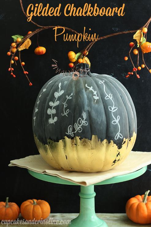 Gilded Chalkboard Pumpkin