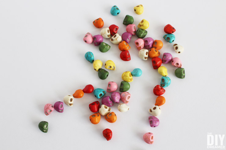 Beautiful colorful Skull beads.