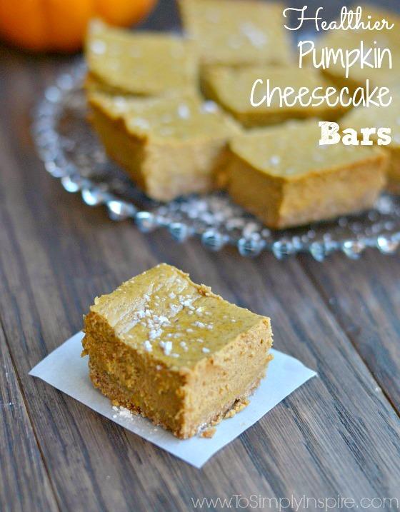 Healthier Pumpkin Cheesecake Bars