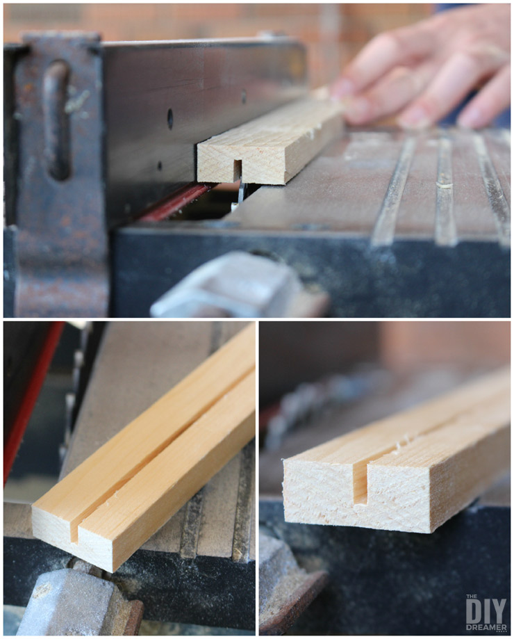 Making a groove with table saw.