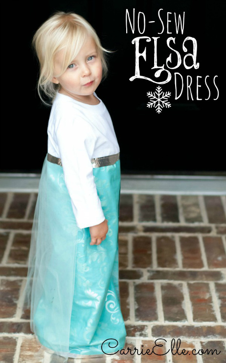 No Sew Elsa Costume