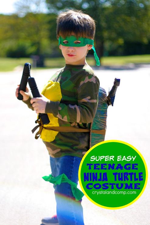 No Sew Teenage Ninja Turtle Costume