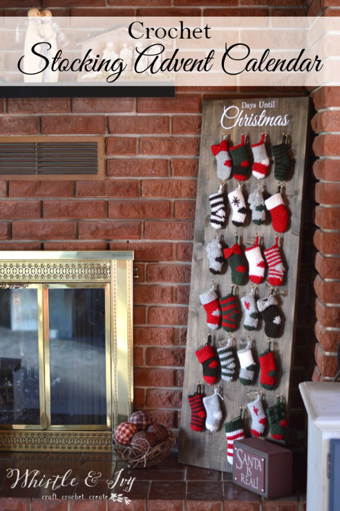Crochet Stocking Advent Calendar Crochet Along