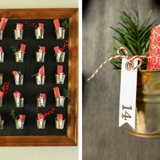 Pottery Barn Knockoff DIY Advent Calendar. Let's countdown to Christmas.
