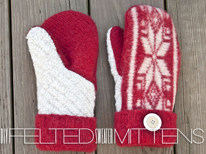 Felted Sweater Mittens
