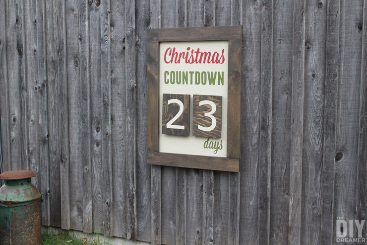 Giant Outdoor Wall Mounted Christmas Countdown Sign