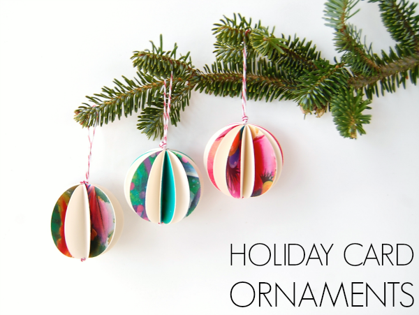 Holiday Card Paper Ornaments