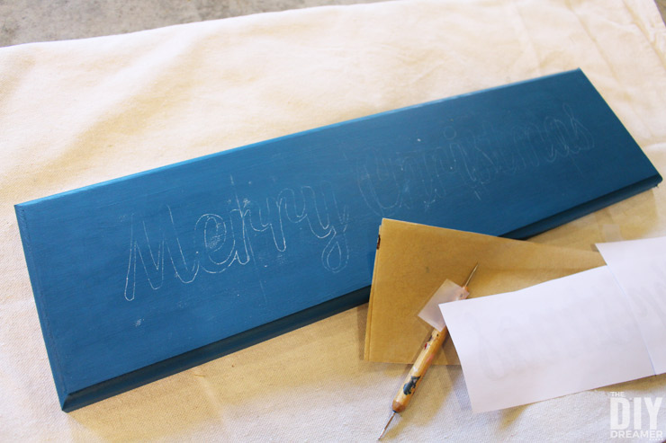 How to trace lettering onto wood.
