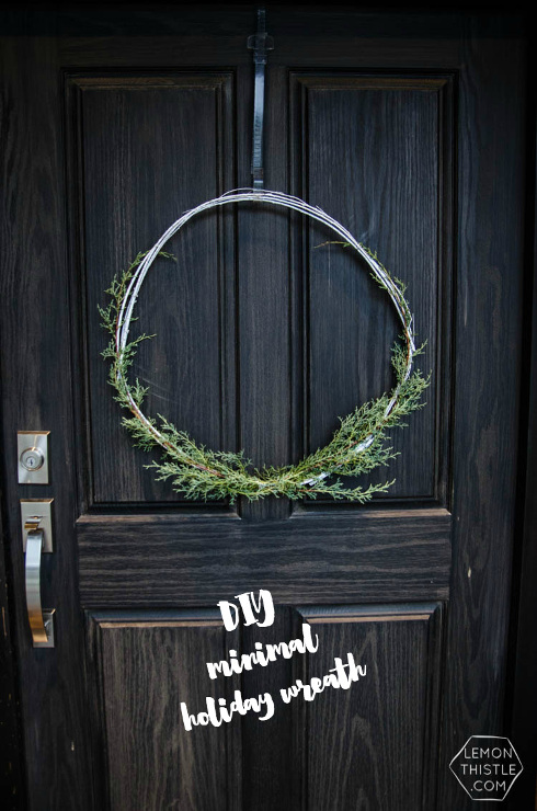 DIY Minimal Holiday Wreath