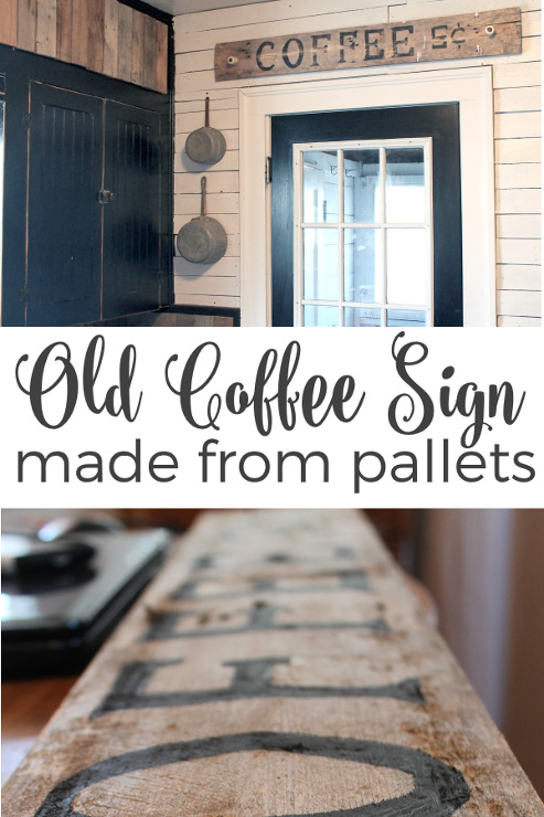Old Coffee Sign Using Pallet Wood