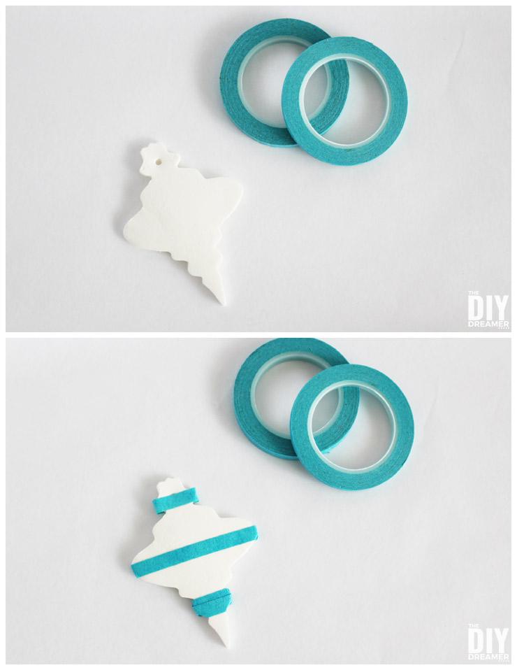 Use patterning tape to make your desired pattern.