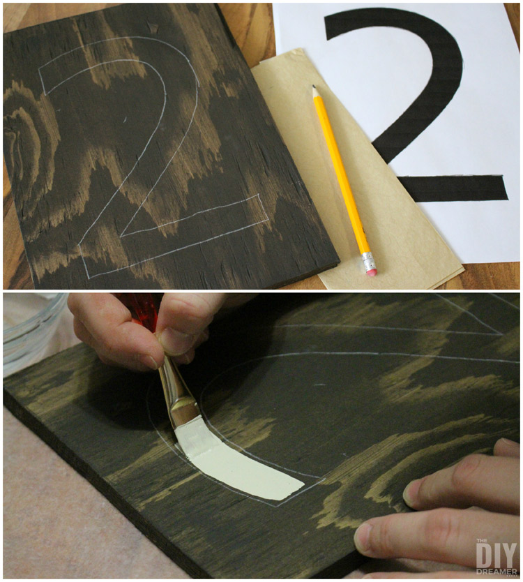 Tracing and painting numbers