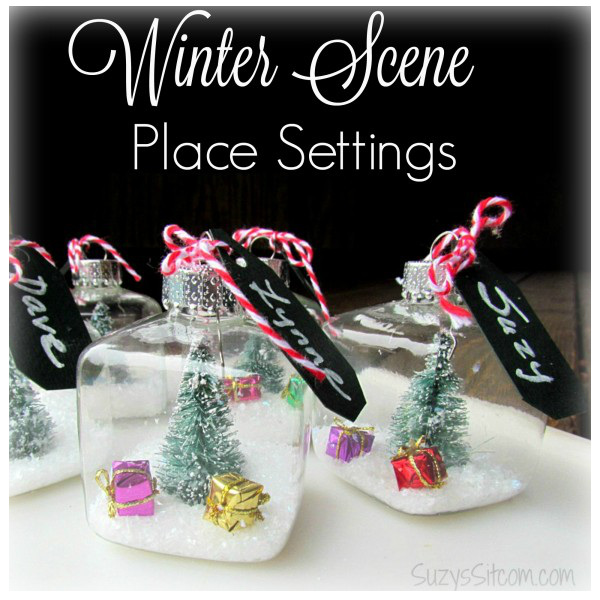 Easy to make Winter Scene Place Settings