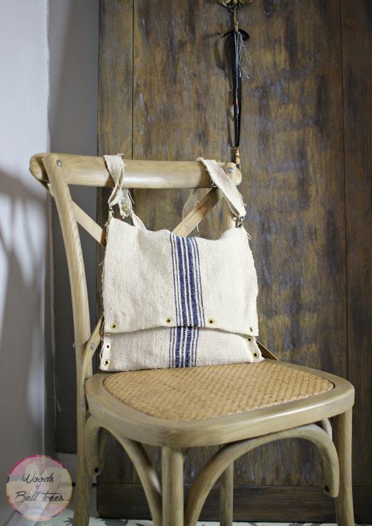 No-Sew Grain Sack Messenger Bag