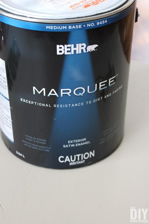BEHR Premium Plus Ultra Exterior Satin Enamel and BEHR MARQUEE Exterior Satin Enamel.
