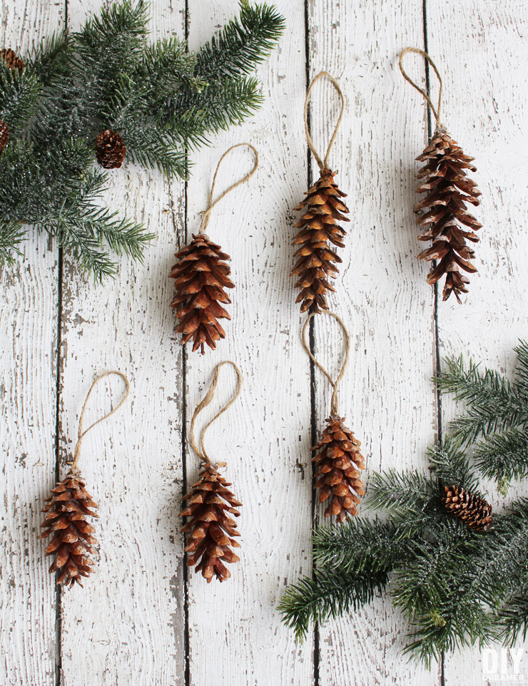 Pine Cone Christmas Ornaments Oh So Easy Homemade