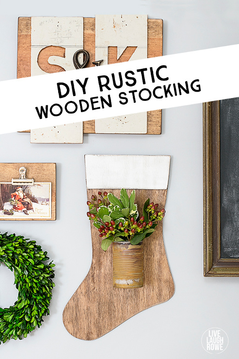 DIY Rustic Wooden Stocking
