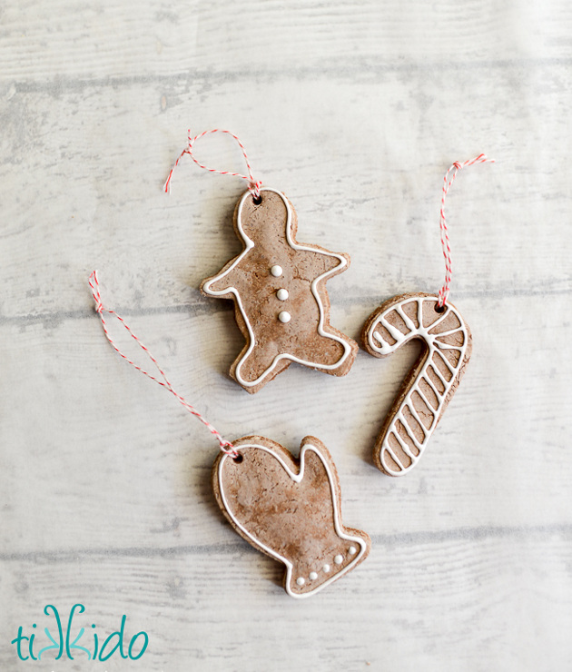 Gingerbread Salt Dough Ornament Recipe and Tutorial