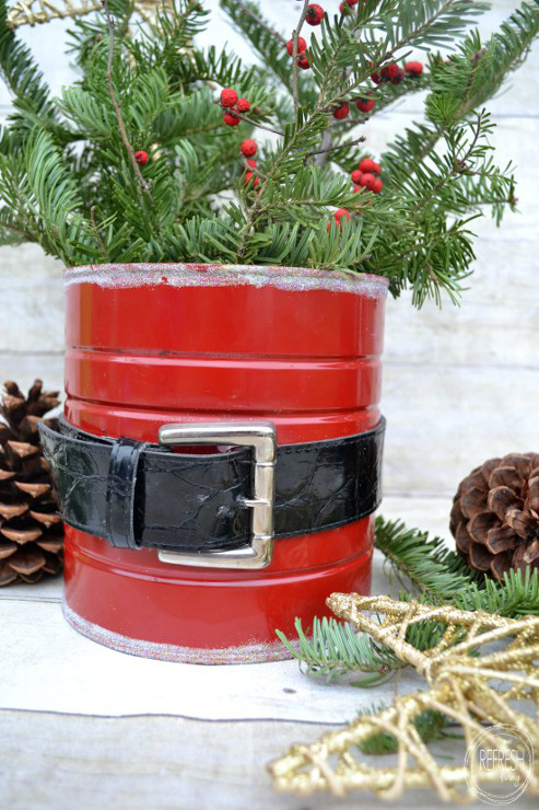 Upcycled Santa Coffee Can Craft