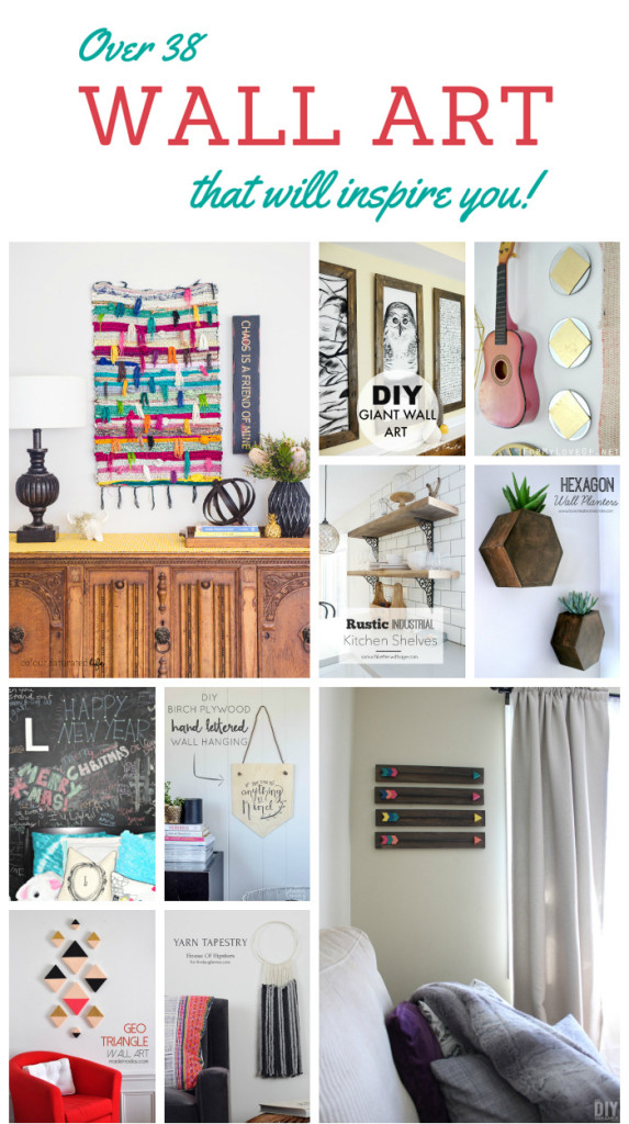 Looking for a great way to add some personality to your home? How about adding some beautiful Wall Art? Need some inspiration? Awesome! You're bound to find some inspiration with this collection of over 38 beautiful wall decor ideas!