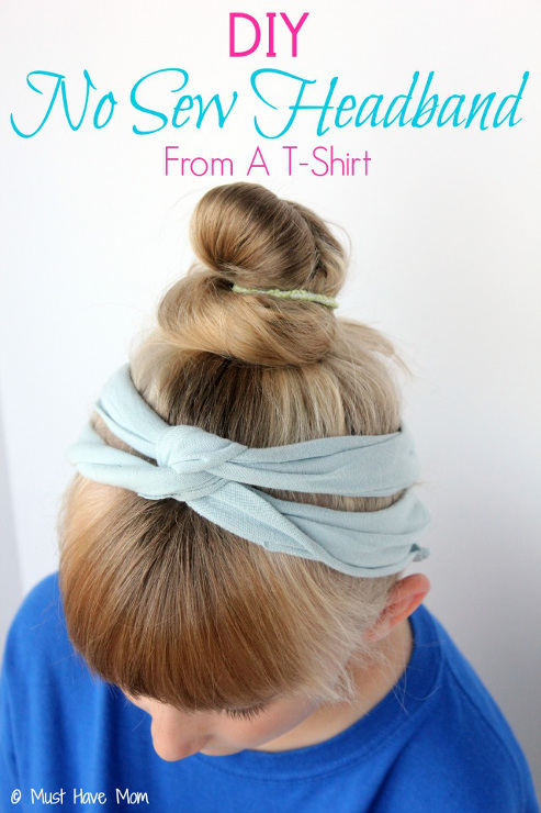 DIY No Sew Headbands From T-Shirts