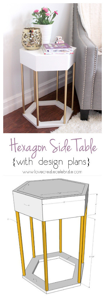 Hexagon Side Table with Design Plans