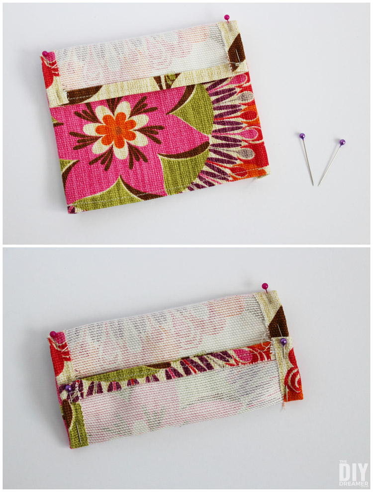 How to pin canvas fabric