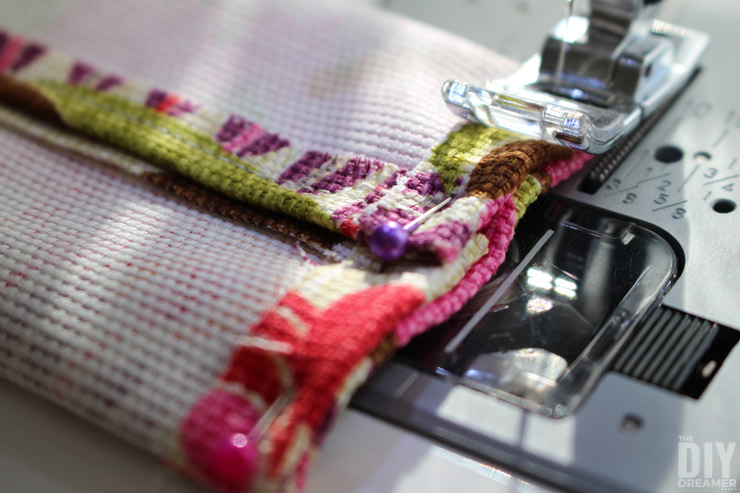 Learning to sew tissue cozies