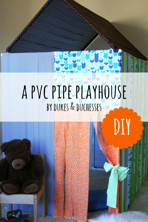 DIY PVC Pipe Playhouse
