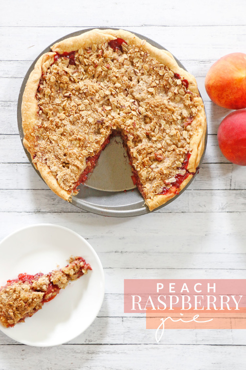 Peach Raspberry Pie Crumble Topping