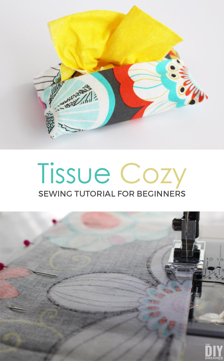 Want to learn how to sew? This is a great little tutorial to help you get started. Oh so cute and oh so easy to sew! Tissue Cozy sewing tutorial for beginners!