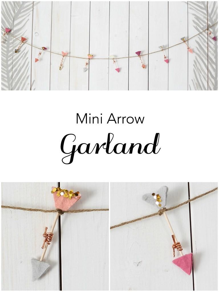 Mini Arrow Garland. Beautiful Valentine Garland.