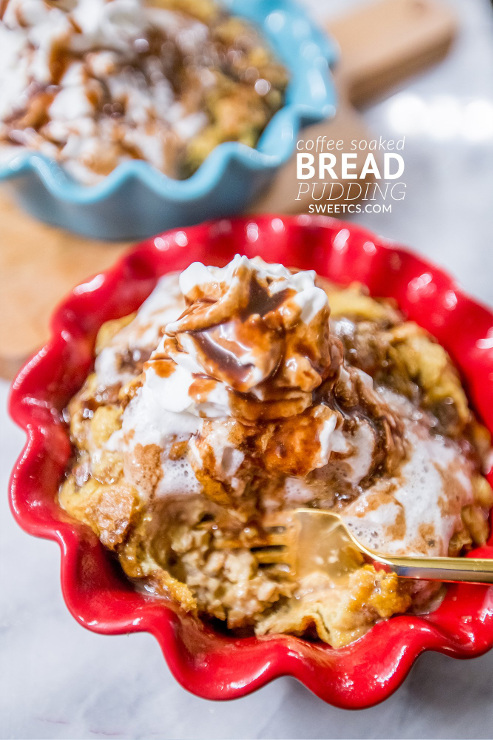 Coffee Soaked Bread Pudding