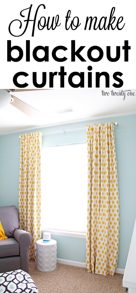 How To Make Blackout Curtains