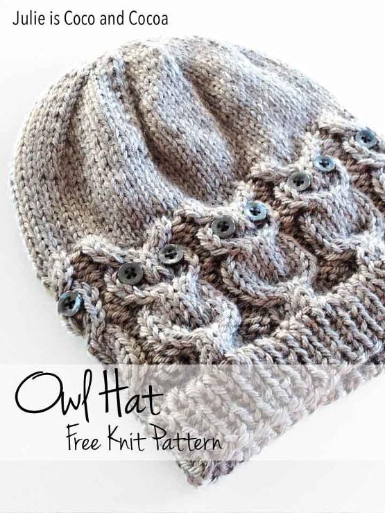 Owl Hat Free Knit Pattern