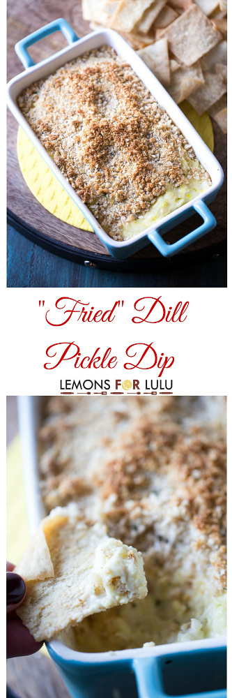 """""""Fried"""" Dill Pickle Dip"""