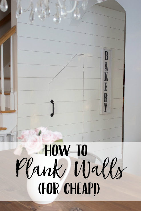 How To Plank Walls (For Cheap!)