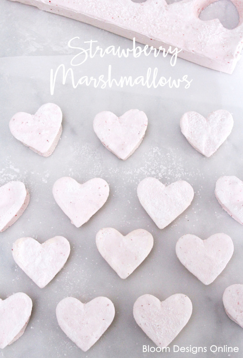 Strawberry Heart Marshmallows