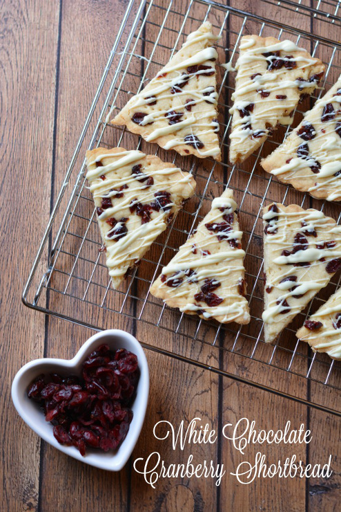 White Chocolate Cranberry Shortbread Recipe