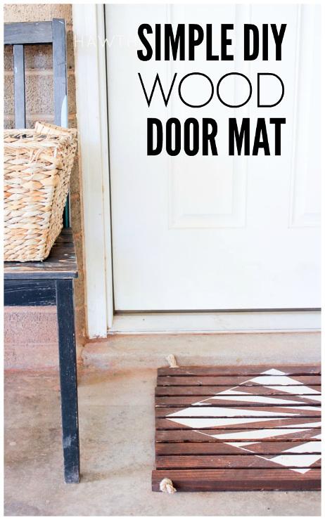 Simple Wood Slat Door Mat
