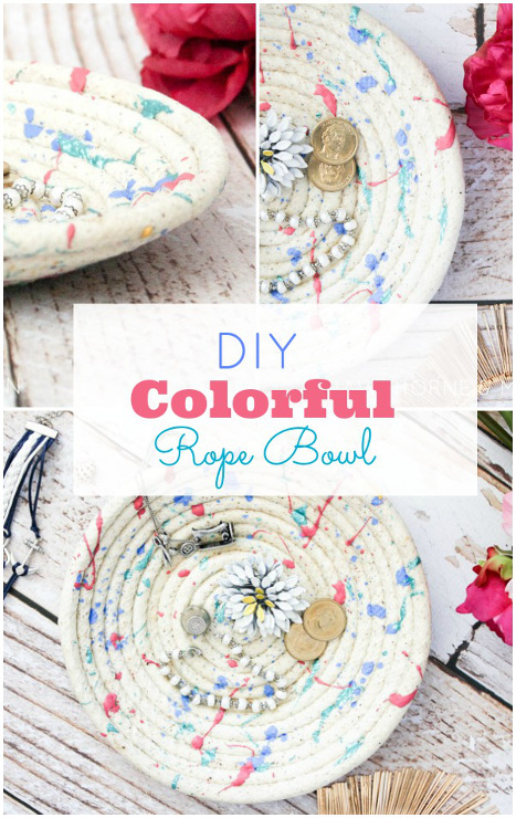 Colorful Rope Bowl