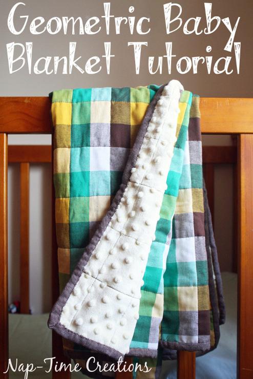 Geometric Fabric Baby Blanket Tutorial