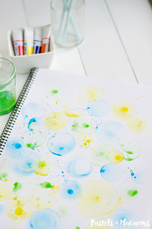 DIY Bubble Art