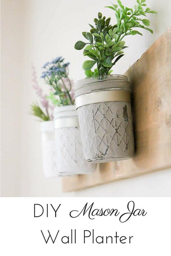 DIY Rustic Farmhouse Mason Jar Planter