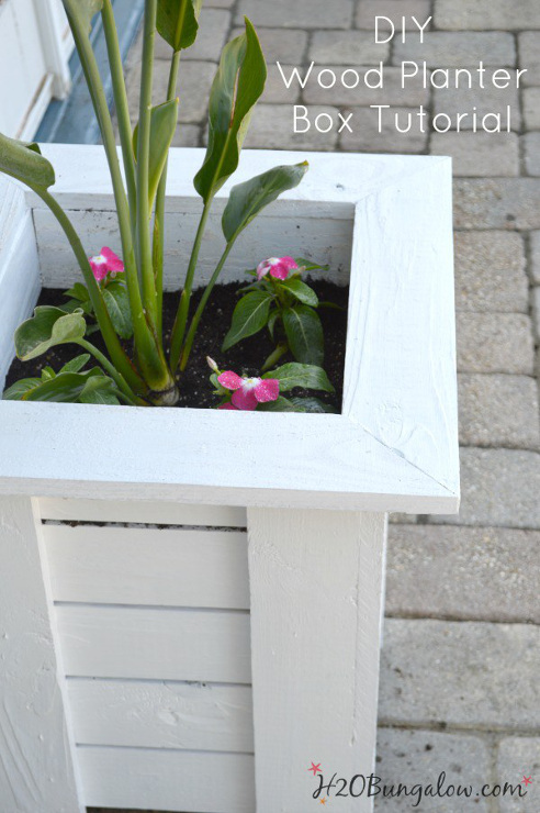 Key West DIY Wood Planter Box