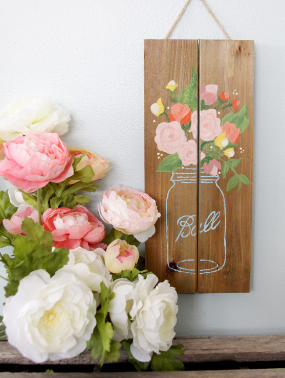 Pallet Painting Party - Mason Jar Pallet Sign