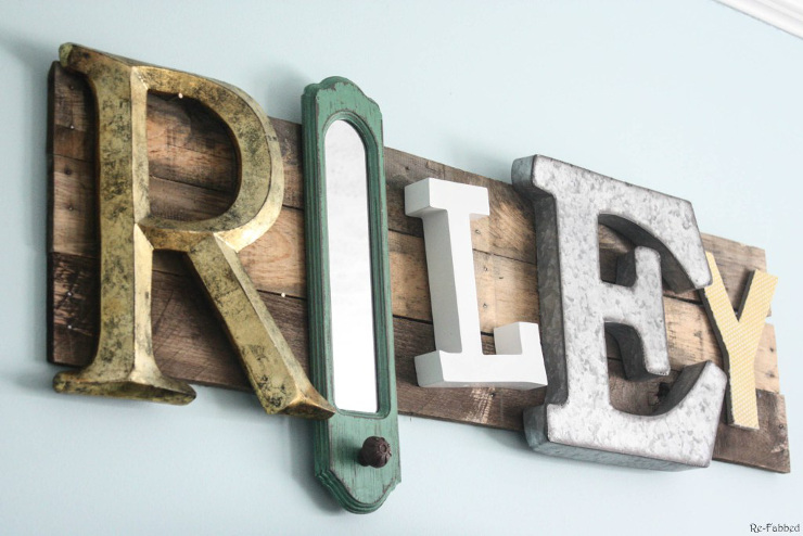 Eclectic Pallet Name Sign